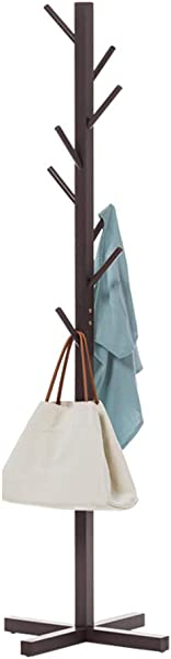 Tengxiang Coat Stand Modern Minimalist Multi Layer Solid Wood Hangers Floor Bedroom Vertical Clothes Indoor Store Content Coat Racks Color Black