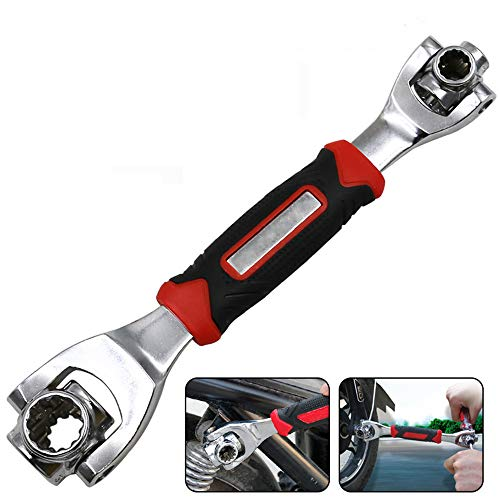 Llave inglesa de llaves de zócalo 360 grados multi-cabeza 8-19mm Spline pernos Torx mano herramienta de bricolaje