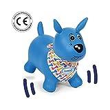 LUDI 2776 - Mon Chien Sauteur Bleu Cagnolino Gonfiabile e Cavalcabile, Blu