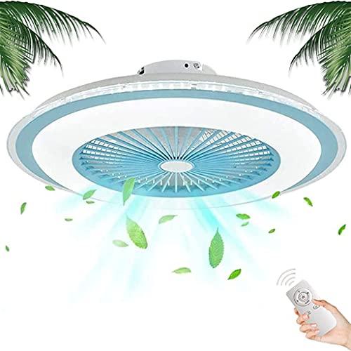YUnZhonghe Ventilador de techo moderno con iluminación 80W regulable con control remoto de control de ventilador de lámpara de ventilador de silencio creativo Luz de techo Luz de viento Ajustable Velo