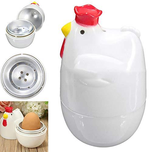 Huhn formte 1 Ei Dampfkessel-Dampfer-Wilderer Mikrowelle Eierkocher Kochwerkzeug Küchen Gadget Zubehör Werkzeuge