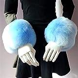 レディーアクセサリーアパレルウォーマーフェイクカフス特大カフブレスレット手首 (Color : 08 1 pair, Size : Faux Fox Fur)