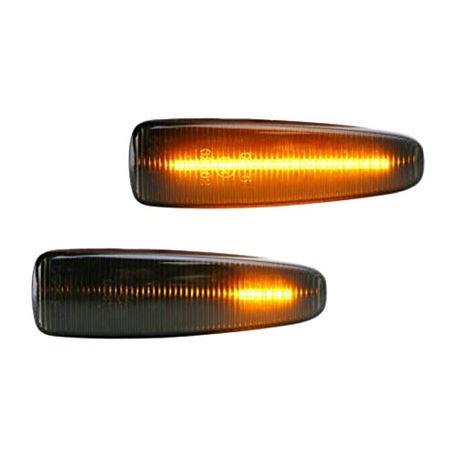 Cobeky Lentes ahumadas ámbar Full LED Dynamic Front Side Marker Lights para Lancer Evo X Mirage Outlander Sport 2011-2020
