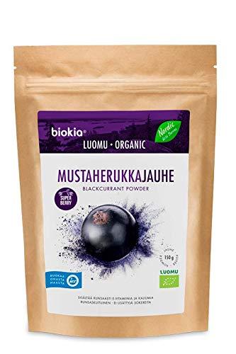 Organic Blackcurrant Powder 150g - BIOKIA