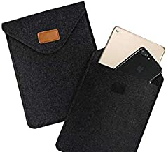 Felt Carrying Sleeve Pouch Case Cover for Barnes & Noble Nook Tablet 7 / iPad Mini 4 / Samsung Galaxy Tab A 8.0/7.0 / Tab E 7.0 / Teclast X80 Pro/Lenovo Tab 7 / Tab 4 8 Plus/LG G Pad X2 8
