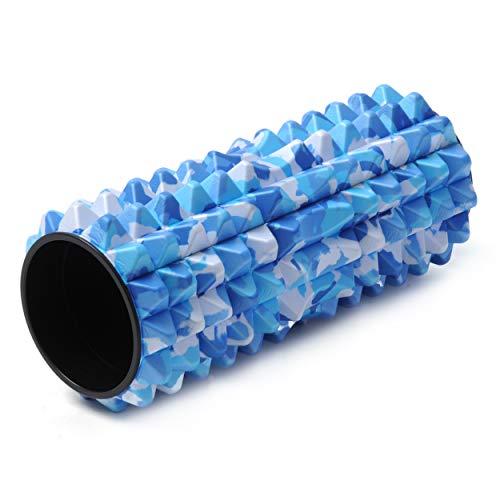 Yogistar Profi Faszien Massage Rolle-Spike, Camouflage-Blue, M