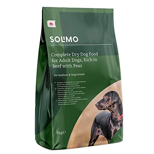 Amazon-Marke: Solimo Komplett-Trockenfutter für ausgewachsene Hunde (Adult) mit viel Rind und Erbsen, 1er Pack (1 x 5 kg)