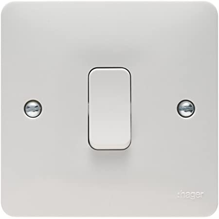 Free Postag BRAND NEW Hager 50A Double Pole Switch 1 Gang with LED Indicator
