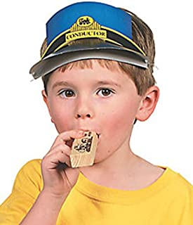 FX Train Whistle, Wooden Railroad Whistles Make Train Horn Sound, 12 Count