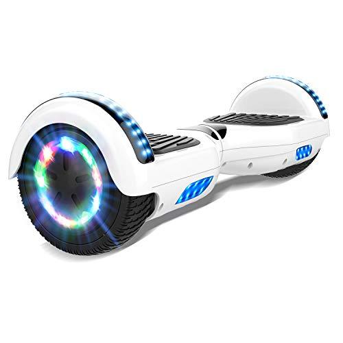 RCB Hoverboard, Hoverboards para Niños y Adultos de 6,5 Pulgadas, Patinete Eléctrico con Altavoces Bluetooth y Luces LED, los Mejores Regalos para Adultos y Adolescentes.