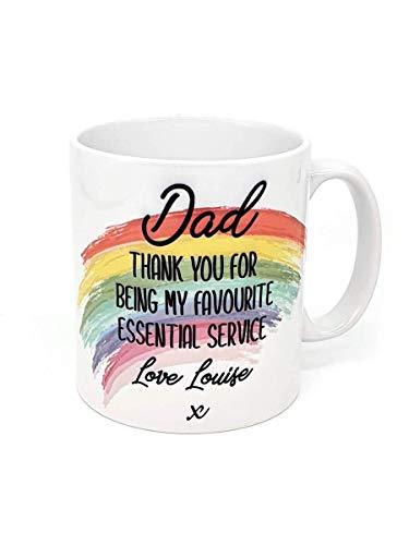 Taza de servicio esencial personalizada Regalo de Navidad Regalo para hombres Regalo para papá para ser personalizado Taza Regalo para papá Taza para hombres Arco iris