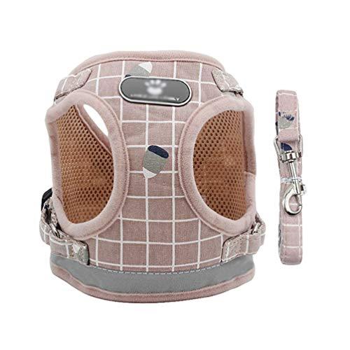 YiiJee Hunde Atmungsaktiv Weste Reflektierende Hundegeschirr Verstellbar Brustgeschirre Sicher Kontrolle Gepolstert Hunde Geschirr Pink XL