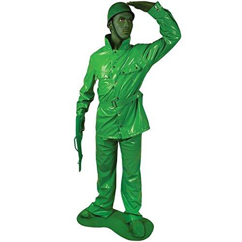Costume da soldatino verde di Morphsuits per adulto L (180 cm max)