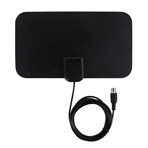 Kakafashion Antena de TV digital plana HD para interiores de 50 millas de rango de refuerzo activo HD digital TV antena 25DB ganancia HDTV