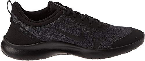 Nike Womens Flex Experience RN 8 Fabric Low Top Lace Up, Black, Size 10.0