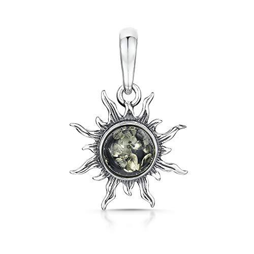 Amberta - 925 Sterling-Silber Sterling-Silber 925 Rundschliff grün Ambre