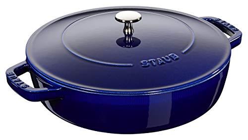Staub 40511-477-0 Sauteuse en fonte, Bleu Intense, 24 cm
