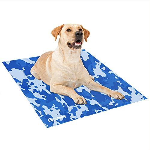GoPetee Hond Koelmat Zelfkoeling Pad Niet-giftige Gel Zomer Slaapbed Comfort voor Kleine Grote Honden Huisdieren Katten Puppy Bed Sofa (Camouflage, X-Groot)
