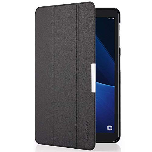 EasyAcc Ultra Dünn Hülle für Samsaung Galaxy Tab A 10.1, mit Standfunktion und Auto Sleep/Wake Up Funktion Slim Leder Case Perfekt kompatibel für Galaxy Tab A 10.1 Zoll T580/ T585, Schwarz