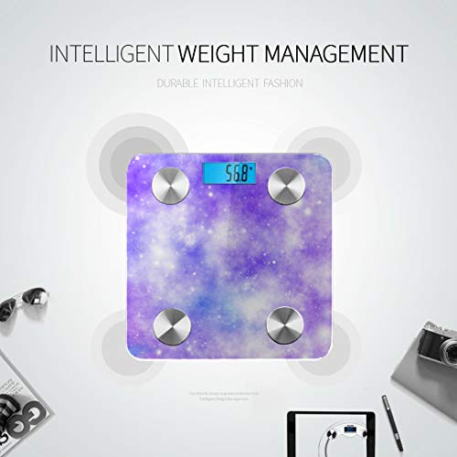 JXCSGBD Unicorn Galaxy Universe Print Best Rated Bathroom Scales Most Accurate Bathroom Scales Scales Digital Weight Tracks 8 Key Compositions Analyzer Sync with Fitness Apps 400 Lbs