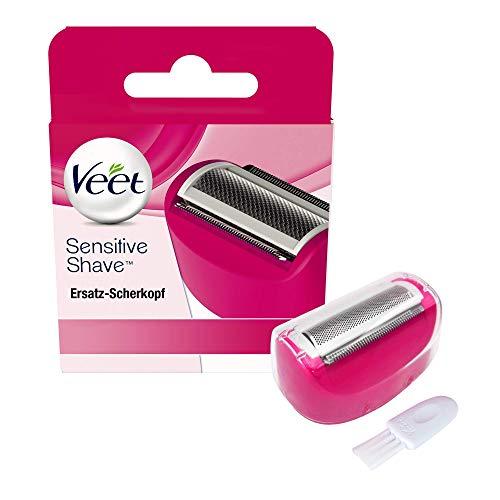 Veet Sensitive Shave Rasierer-Scherkopf – Zubehör für den Veet Damenrasierer – Für eine sichere & schnittfreie Nass- und Trockenrasur – 1 x Ersatz-Rasierkopf