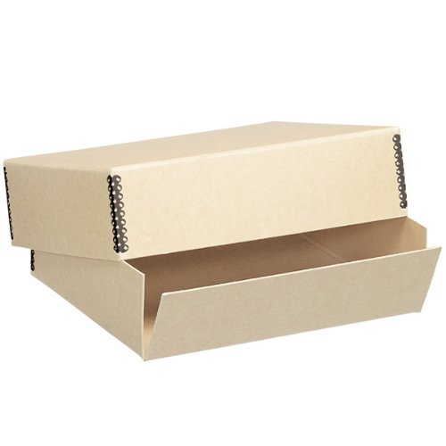 Lineco Museum Archival Drop-Front Storage Box, Acid-Free with Metal Edges, 20 X 24 X 3 inches, Tan (733-3024)