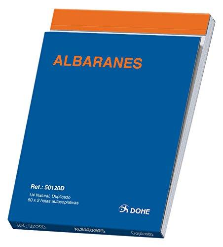 Dohe 50120D - Talonario de albaranes cuarto natural duplicado