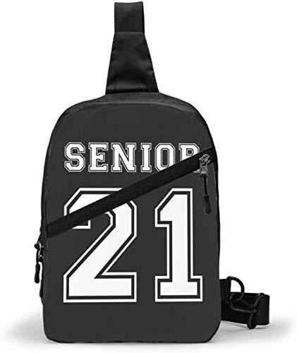 Senior 2021 Schultertasche, Crossbody Schulter Brust Outdoor Wandern Reisen Persönliche Tasche Tasche für Damen Herren Wasserdicht