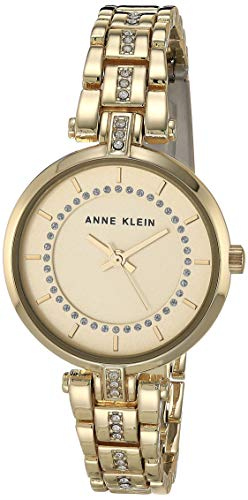 Anne Klein Women's Crystal Accented Bracelet Watch
