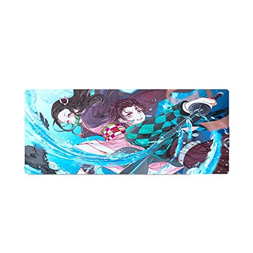 JINFENFG Demon Slayer/Kamado Tanjirou Anime Impresión 3D Alfombrilla de Escritorio para computadora Alfombrilla de ratón Alfombrilla de Goma Antideslizante Alfombrilla de Escritorio de Gran tamaño A