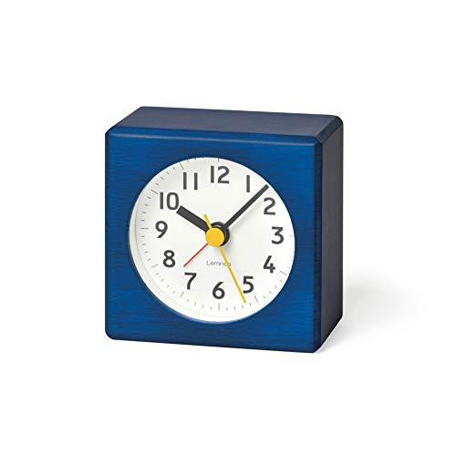 Lemnos Wecker Farbe Blau - das leise Uhrwerk