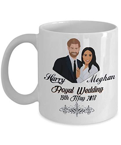 Taza de Harry Meghan Taza de boda real Príncipe Harry y Meghan...