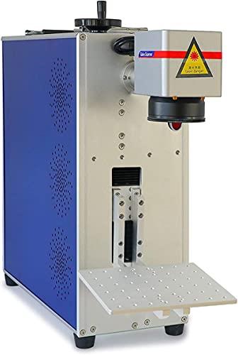 Jewelry Fiber Laser Marking Engraving Tool 20W Laser Marking Machine for Metal Engraving Machine 110x110mm Lens (110V)