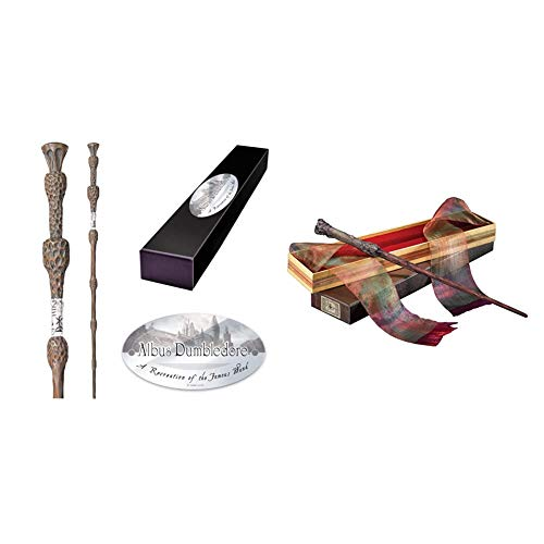 The Noble Collection Proffesor Albert Dumbledore Baguette Personnage & Harry Potter Baguette Magique Harry Potter Noble collection