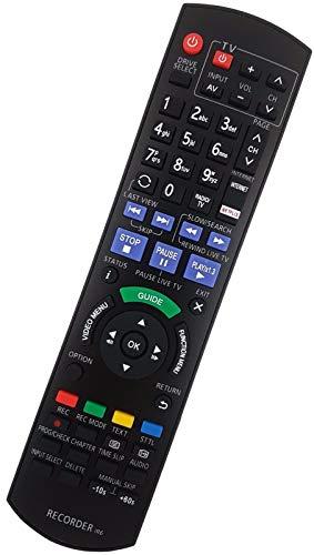 Ersatz Fernbedienung passend für Panasonic DMR-BWT720 | DMR-BWT720EB | DMR-EX97S | DMR-EX97SEGK | DMR-BCT650 | DMR-BST650 | DMR-EX97C