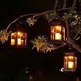 Lanterns light – Lanterne a energia solare senza fenicotteri, impermeabili, per giardino, patio, Wall Pathway Driveway Lawn, confezione da 2