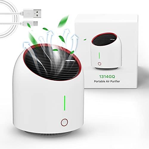 Luftreiniger Air Purifier mit Aktivkohlefilter,Leise Air Purifier für 99,97{38ca09676fe8ae1d3a0ca72406a6cf8a192fd2b171cc7ebe04aaa454e0822142} Filterleistung,Luftreiniger Allergie für Raucherzimmer Wohung,Tragbarer Luftreiniger Gegen Staub,Rauch,Pollen Tierhaare