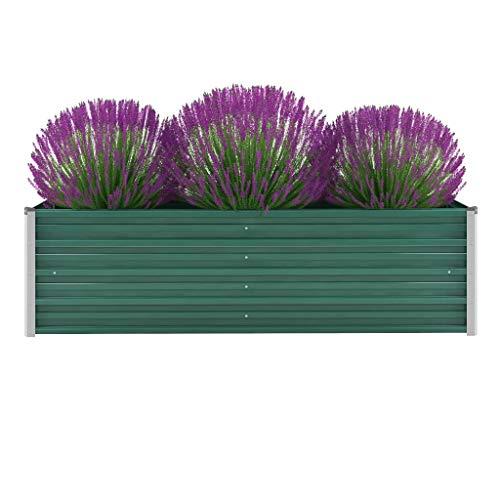 Tidyard Jardinera de jardín de Acero galvanizado para balcón y jardín, 160x40x45...