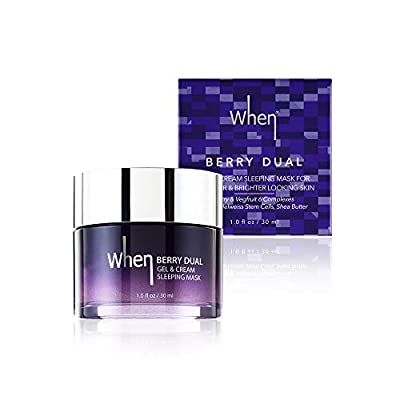 Korean Gel Sleeping Face Mask - Vitamin Serum Vegan Care Cream - Overnight Anti-Wrinkle Anti-Aging Facial Intensive Treatment - Hydrating Moisturizing - 30 ml
