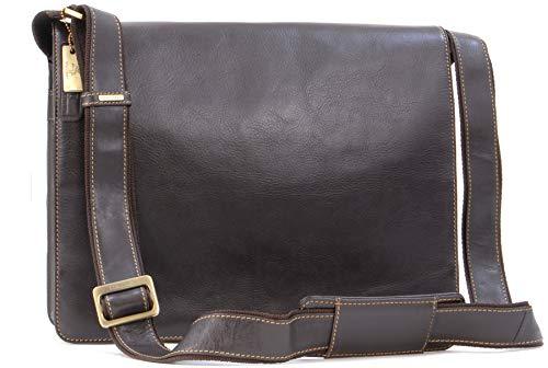 VISCONTI - Messenger Bag - Men's Leather Messenger Bag/Shoulder Bag - Laptop Compatible for Business/Office/Work Bag - 18548 - Harvard - Mocha