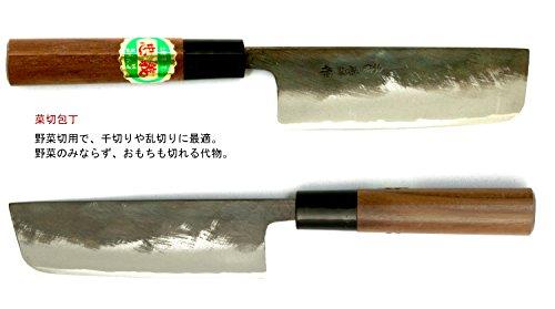 土佐刃物包丁黒打ち菜切り包丁青鋼1号120mm