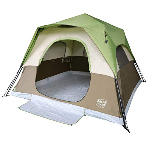 Timber Ridge Camping Tent 6 Person Instant Tent 10x10 Feet Portable Cabin Tent with Rainfly for...
