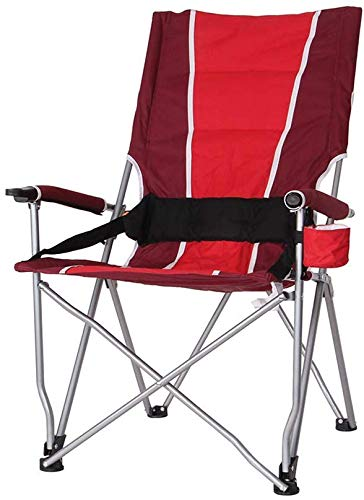 QTQZDD Camping Stuhl mit hoher Rückenlehne Klappstuhl, Sessel, roter Bund, tragbarer Wanderer Strand Angeln Camping Sketch Chair/Maximale Belastung 130KG