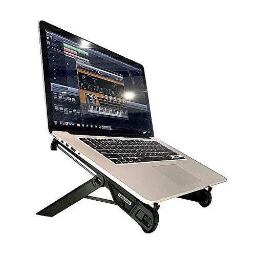 XSHBHD Folding Laptop Stand, Holder Mount Adjustable Angle Portable Notebook Stand (Color : Silver)