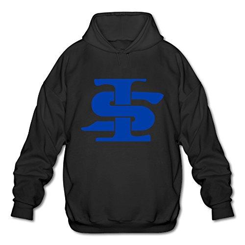 Hanini68 Indiana State University Mens Sweatshirt T-Shirts Pre-Cotton Great Black