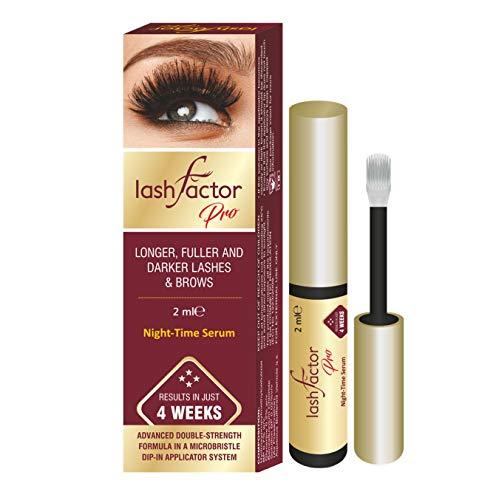 Lashfactor Pro, producto que acelera el crecimiento de las pestañas en tan sólo 4 semanas con una fuerza triple, probado por un dermatólogo y un oftalmólogo, 2ml