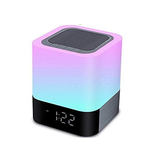 Bluetooth Digitale Wekker Touch Sensor Nachtlampje Nachtlampje Kleurrijk Dimbaar & 12 / 24H Kalenderweergave Ondersteuning MP3-Speler Beste Cadeaus Voor Kinderfeestjes