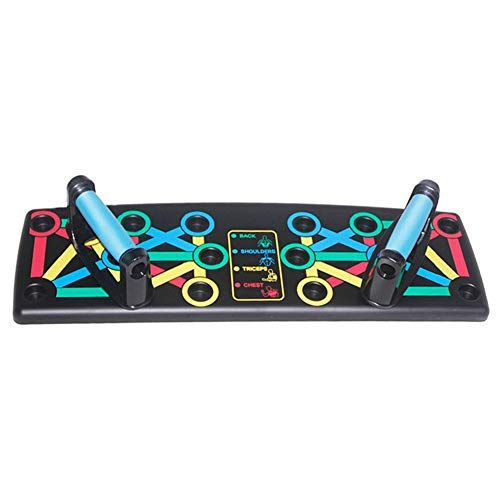Push Up Bracket Board 14 in 1 Push Up Board 14 in 1 System Color Power Press Push Up - Komplettes Push Up Trainingssystem Tragbar für Zuhause Fitness Training Fitness Übungswerkzeug