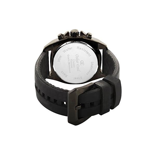 Oskar Emil Sports Reloj cronógrafo para Hombre de Cuarzo con Correa en