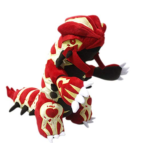 Ylout 31 cm Cartoon Plüschtiere Groudon Mega Serie Rot Plüschtiere Weiche Figur Gefüllte Puppe Für Kinder Geschenk